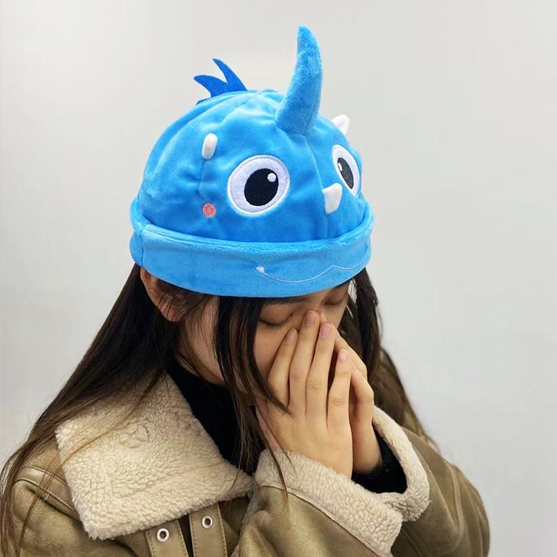 新灵兽定制周边-小龙仔可爱小蓝帽子
