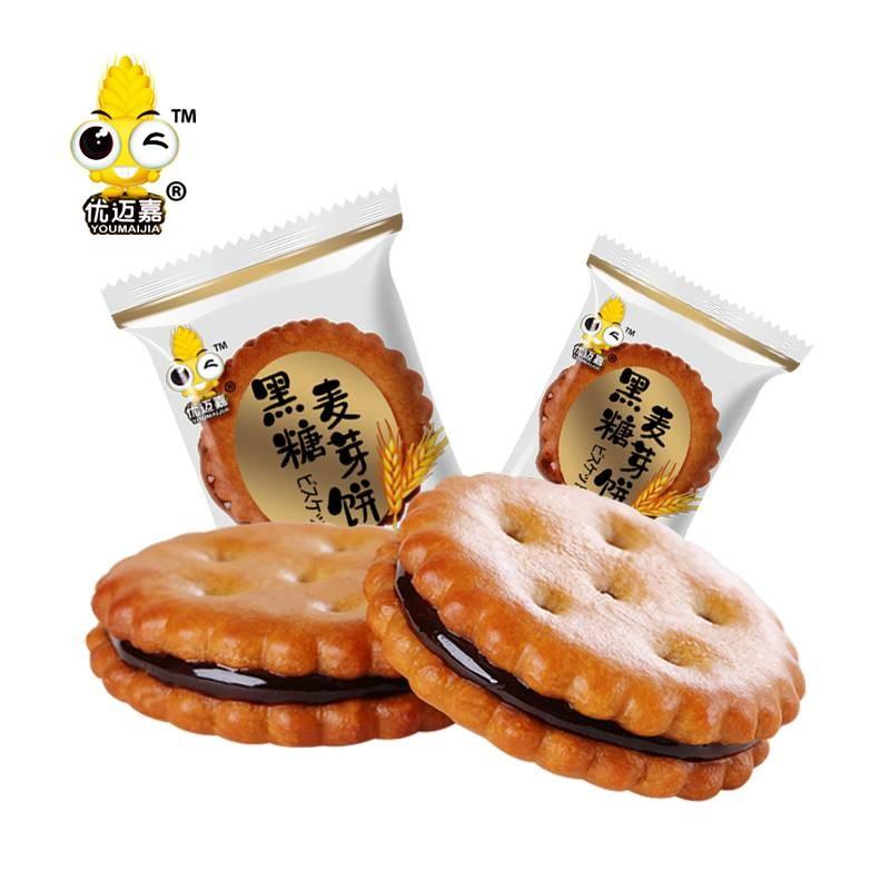 优迈嘉黑糖麦芽夹心饼干108g/箱