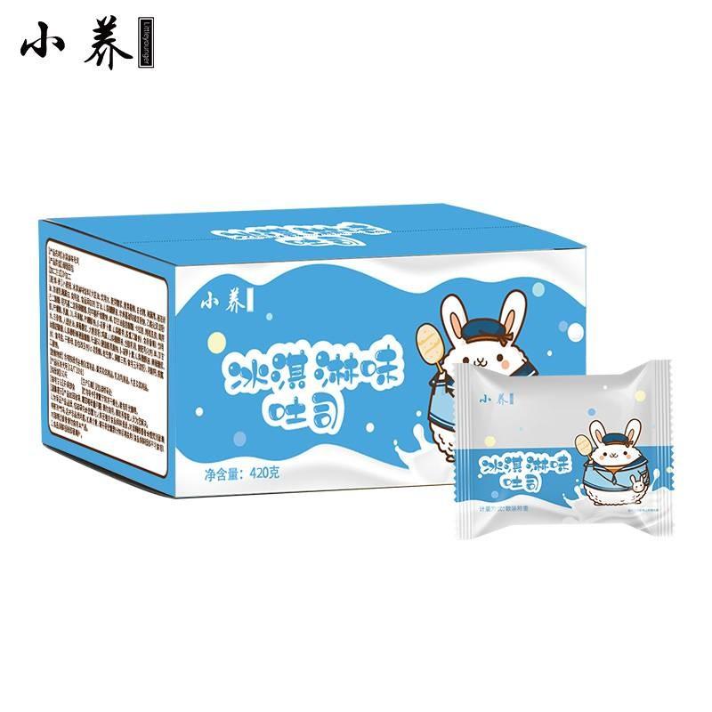 小养冰淇淋味吐司面包420g/箱