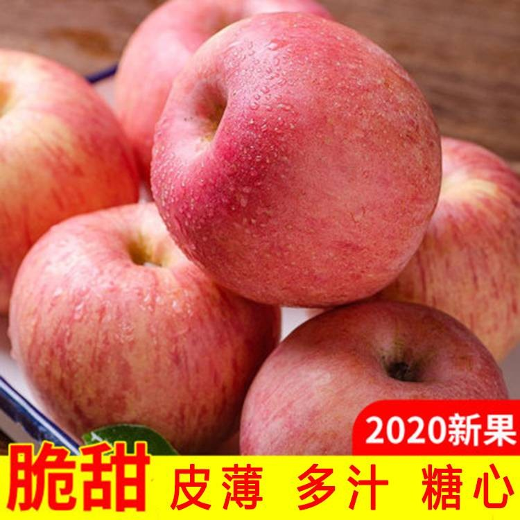 陕西红富士苹果脆甜一级精品带箱10斤包邮