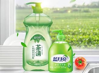 蓝月亮茶清洗洁精1kg*1+芦荟洗手液500g*1