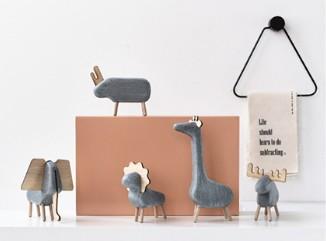 创意北欧风桌面动物小摆件家居装饰